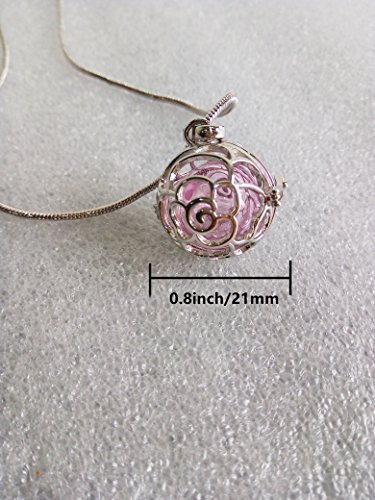 Rose Pattern Aroma Essential Oil Diffuser Necklace Locket Pe