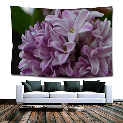 Beautiful Hyacinth Wall Hanging Tapestry for Bedroom Dorm Living Room