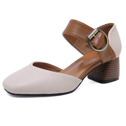Gruesos Sandalias Mujer Zapatos Retro De Cabeza Fiesta
