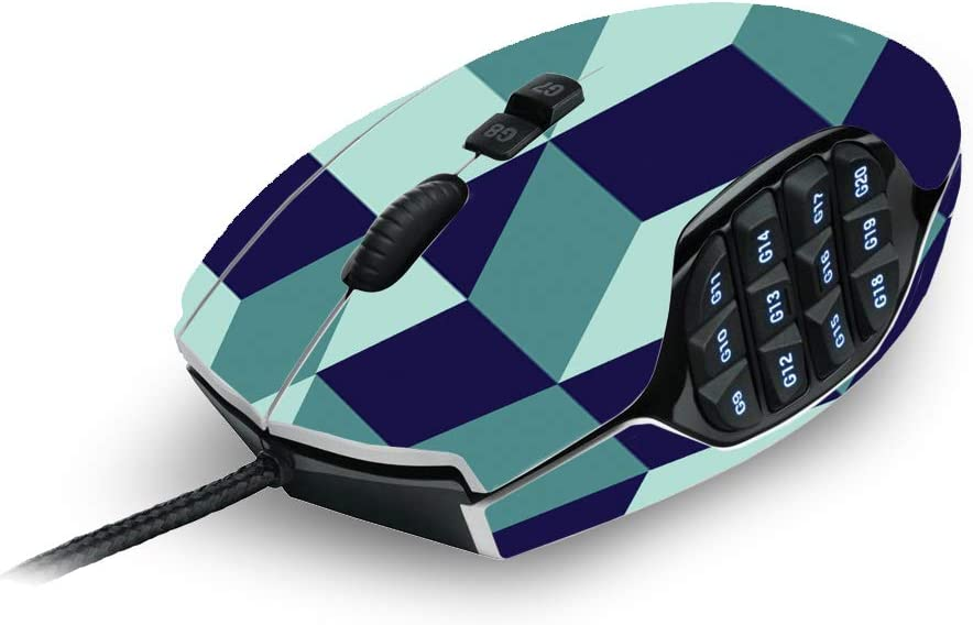 and Change Styles and Unique Vinyl Decal wrap Cover Made in The USA Easy to Apply Geo Tile Remove MightySkins Skin Compatible with Logitech G600 MMO Gaming Mouse Durable Protective