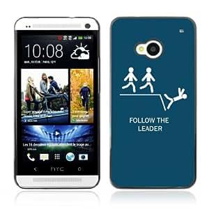 CQ Tech Phone Accessory: Carcasa Trasera Rigida Aluminio Para HTC One - Funny Follow The Leader