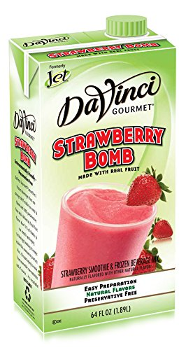 Jet Smoothie Mix, Strawberry Bomb, 64-Ounce Boxes (Pack of 6) - Strawberry Smoothie
