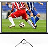 TaoTronics Projector Screen with Stand, TT-HP020 Indoor and Outdoor Movie Screen 120 Diagonal 4:3 with Wrinkle-Free Design (Easy to Clean, 1.1 Gain, 160° Viewing Angle and Includes a Carry Bag)