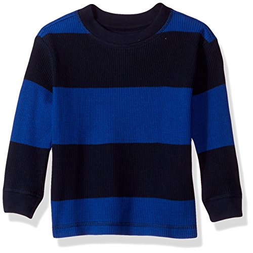 (French Toast Baby Boys Long Sleeve Rugby Stripe Thermal Tee, surf The Web, 24M)