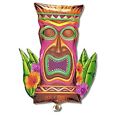 "ANAGRAM INTERNATIONAL A11211301 23X30 TIKI TIME SHAPE FOIL - PKG, 28"", Multi: Kitchen & Dining"