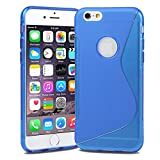 Evecase iPhone 6S Plus Case, S-Line Slim Soft Gel Skin TPU Case Cover for Apple iPhone 6S Plus / 6 Plus 5.5'' Screen Smartphone - Blue