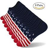 No Show Socks, Cotton Low Cut Gmark Unisex Running Athletic Socks 4 Pairs Large