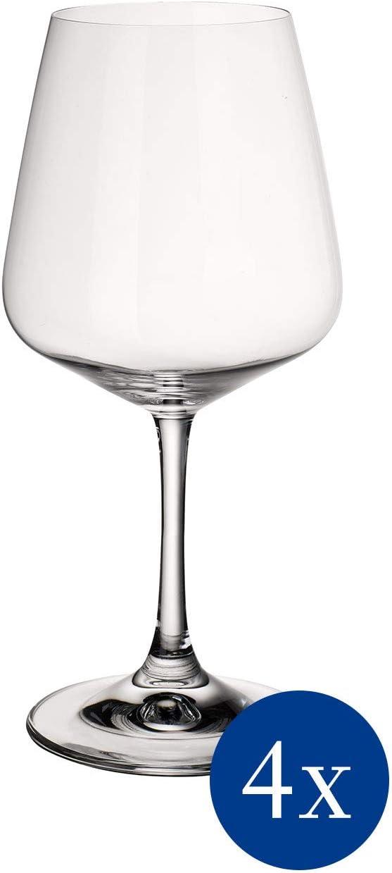 Villeroy & Boch 11-7209-8110 Copa de Vino Tinto de 590 ml, Cristal, 10 cm, 4 Unidades