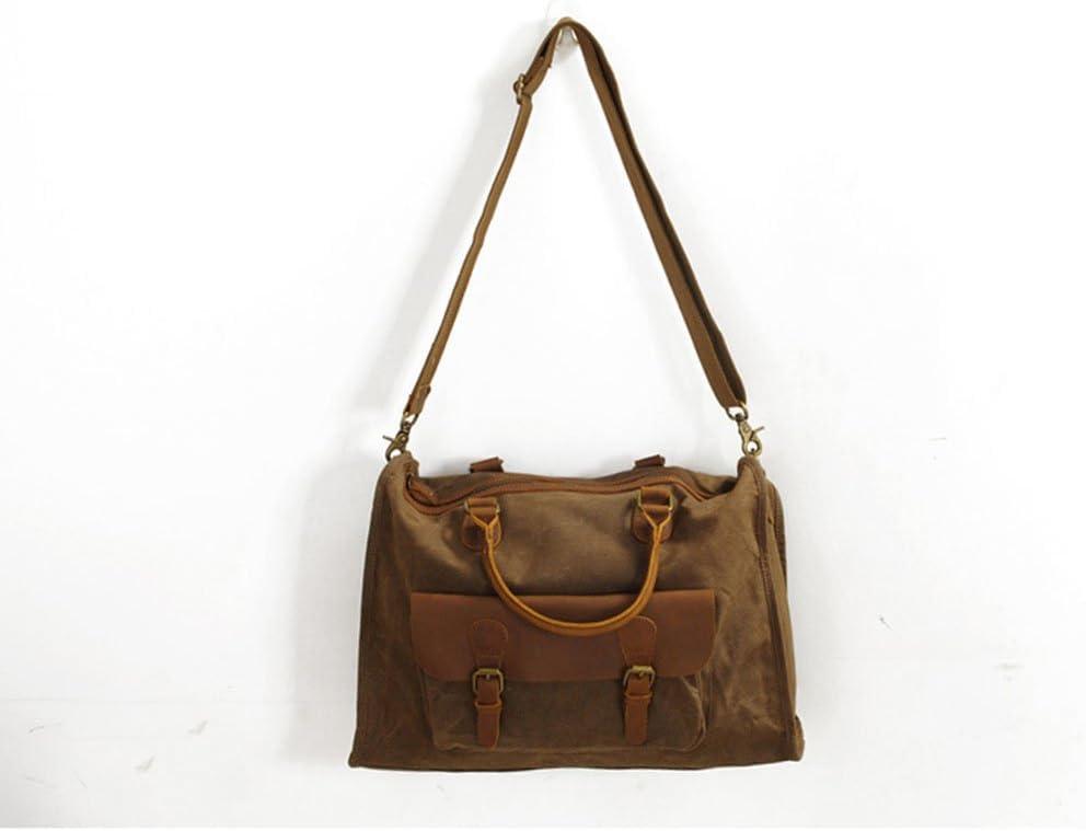 Color : Coffee Monkibag-TB Travel Bag Men Shoulder Bags Crossbody Bag Canvas Bag Briefcase Laptop Bag Casual Handbag Crossbody Bags