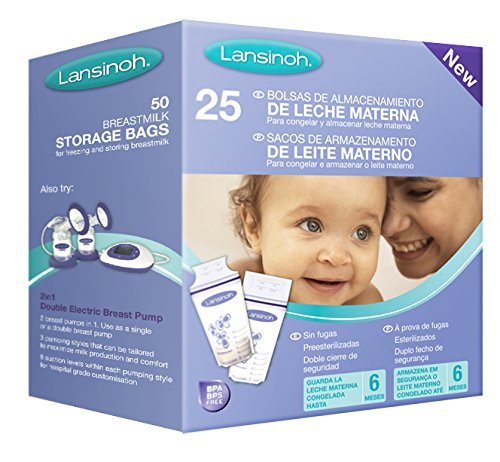 Lansinoh - Bolsas de Almacenamiento de Leche Materna, 25 uds: Amazon.es: Bebé