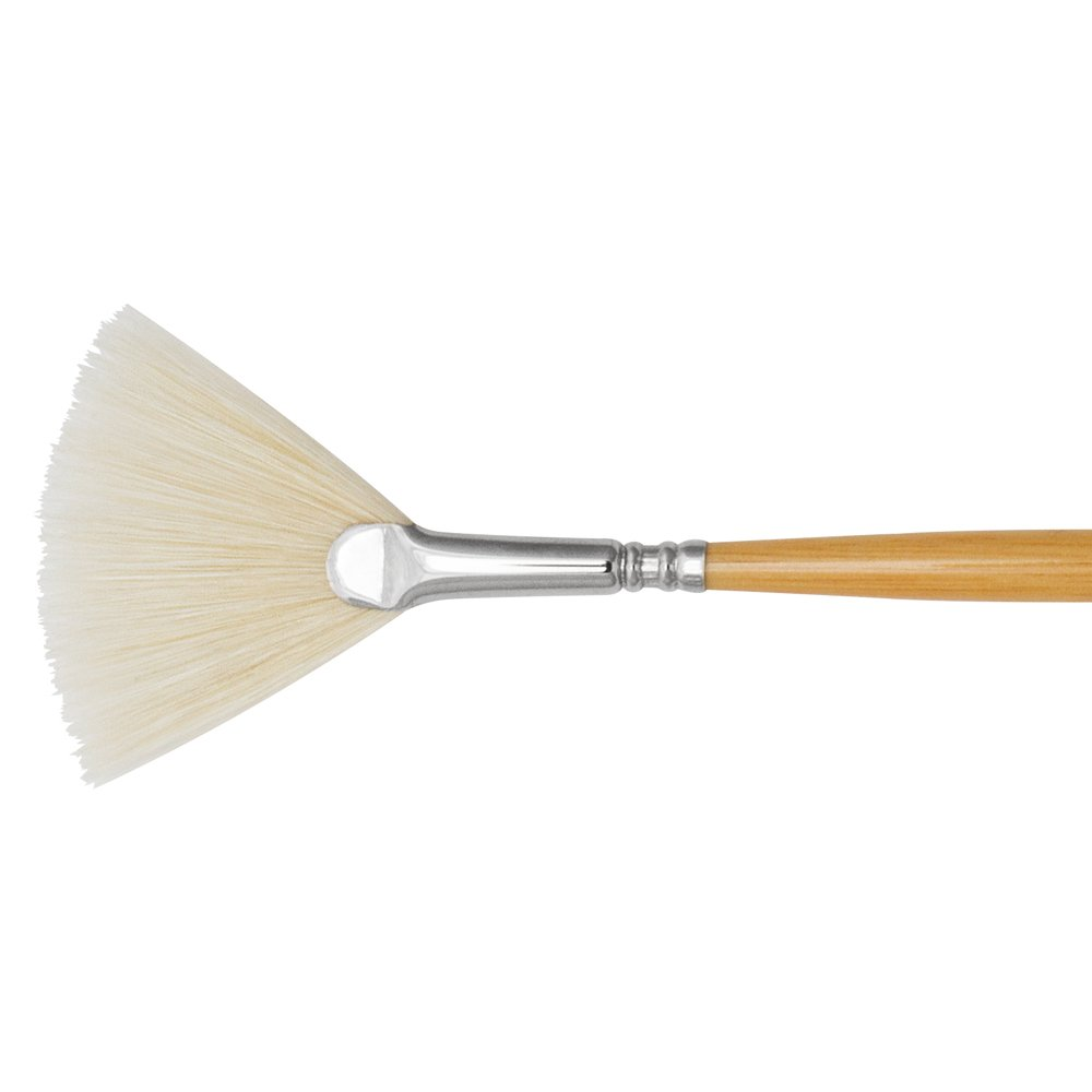 Escoda Clasico 5337 Oil & Acrylic Chungking White Bristle Paint Brush Fan; Size 6 Global Art Materials Inc.