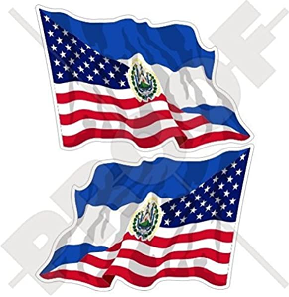 3 x 5 Inches Flag It El Salvador Heavy Duty Vinyl Bumper Sticker