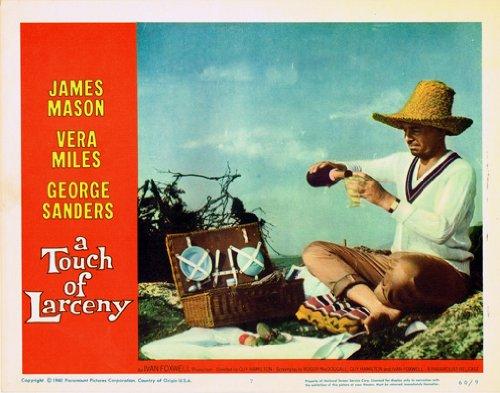 (A TOUCH OF LARCENY ORIGINAL LOBBY CARD JAMES MASON HAS PICNIC)