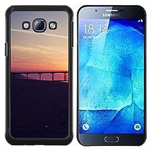 YiPhone /// Prima de resorte delgada de la cubierta del caso de Shell Armor - San Francisco Sunset - Samsung Galaxy A8 A8000