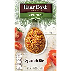 Near East Rice Pilaf Mix, Spanish Rice (Pack of 12 Boxes)