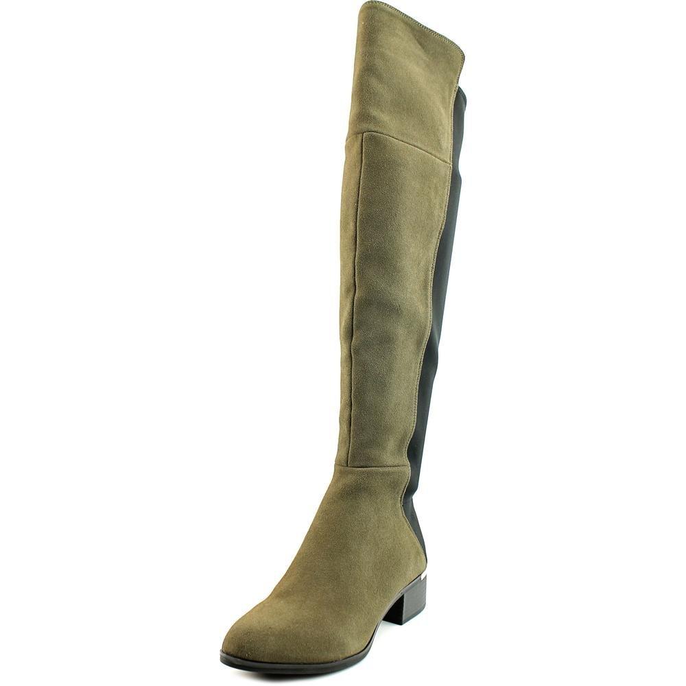 Bar III Womens Rene Leather Closed Toe Over Knee Fashion Boots, Grey, Size 6.0
