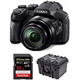 Panasonic DMC-FZ300K Digital Camera (Black) w/Sony 32GB Memory Card & Hard Case
