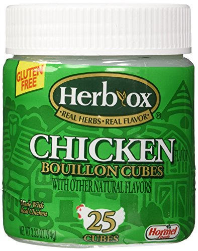 Chicken 25 Cubes - Herb-Ox Bouillon Cubes Chicken Bouillon 25 Ct 3.33-oz (Gluten Free)