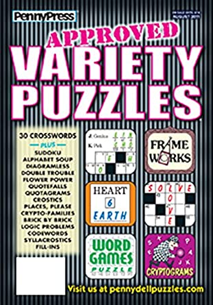 Approved Variety Puzzles Amazon Magazines