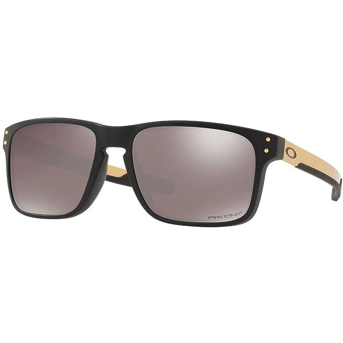 15a66bfd3755 Oakley Men's Holbrook Polarized Iridium Rectangular Sunglasses, Matte  Black, ...