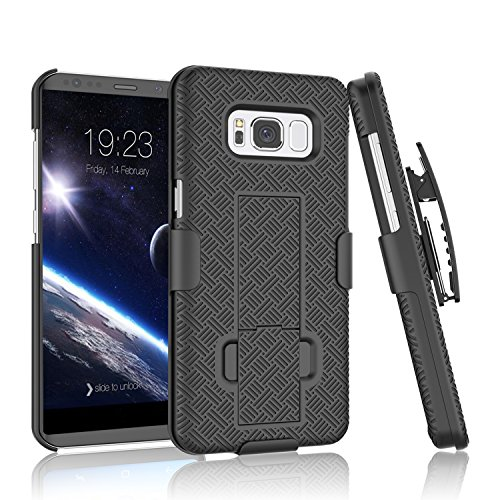 Galaxy S8+ Plus Case , Tinysaturn(TM) [Ystorm Series] [Black] Shock Absorbing Belt Clip Kickstand Hard Armor Impact Defender [Full Protection] Case Cover For Samsung Galaxy S8+ Plus Released On 2017 For Sale