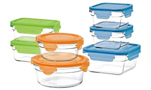 Glasslock Oven 14 Pcs Set (Color lid)