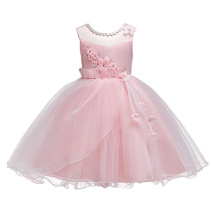dae2d1777b FYMNSI Vestido de Tul para niñas Grandes