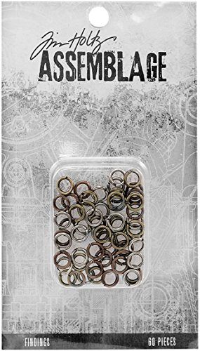 Advantus THA20063 Tim Holtz Assemblage Findings Jump Rings Multicolor ()