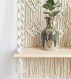Geepro Handmade Macrame Wall Hanging Shelf Boho