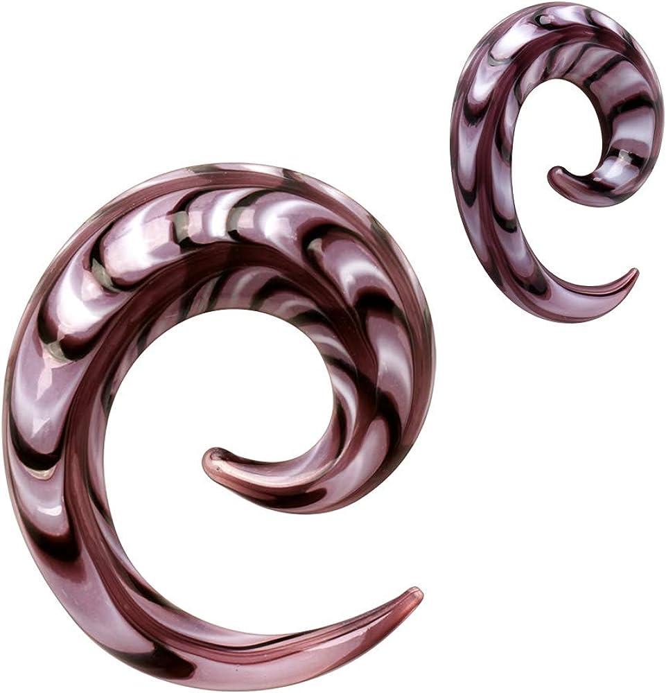 Purple Swirl Spiral Glass Taper