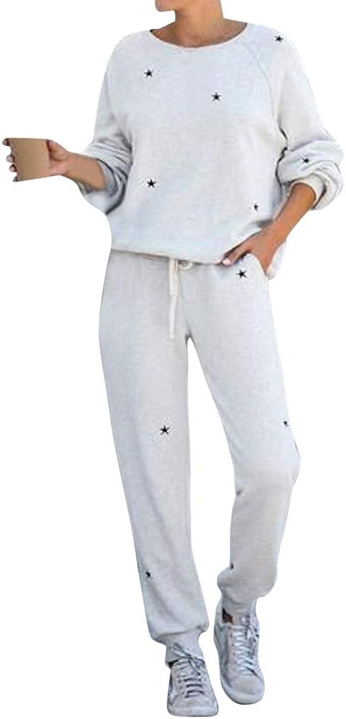 Details about  /Women Casual Sport Tracksuit Sweatshirt Top Pants Set Runnning Lounge Wear Suit