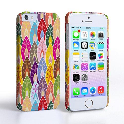 Caseflex Coque iPhone 5 / 5S Etui Feuilles Colorées Brillant Dur Housse