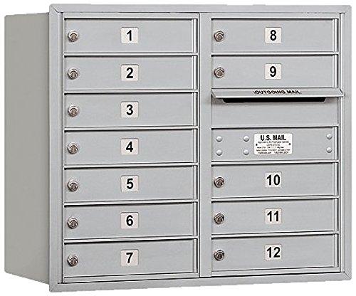 Salsbury Industries 3707d-12arp 4 C水平メールボックス、アルミニウム   B005FG303I