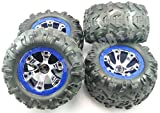 Traxxas 1 16 Mini Summit VXL *BLUE TIRES & WHEELS*12mm Geode