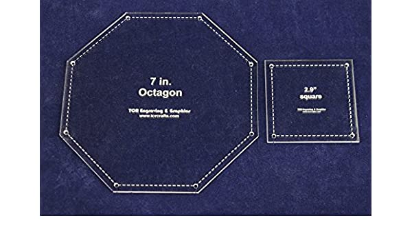 Clear 1//8 Matching Square//Octagon Set Templates 7