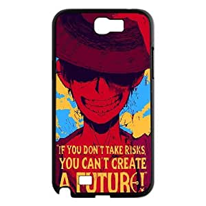 [One Piece Series] Samsung Galaxy Note 2 Cases One Piece Quote.If You Don't Take Risks,You Can't Creat a Future., Bloomingbluerose - Black