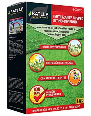 Abonos - Fertilizante Césped Profesional Otoño-Invierno Caja 1, 5 Kg. - Batlle: Amazon.es: Jardín