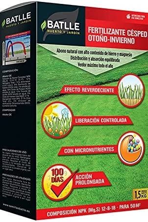 Abonos - Fertilizante Césped Profesional Otoño-Invierno Caja 1, 5 ...