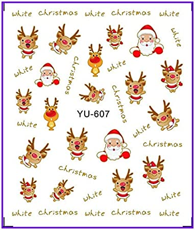 Stickers & Decals 1x Water Stickers Nail Decals Stickers Water Transfers Decal Xmas Chrismas Santa Clause Yu603-608