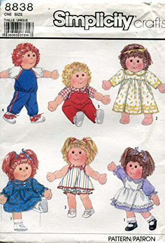 Simplicity Crafts Pattern 8838 ~Wardrobe for 16-Inch and 18-Inch Soft Sculptured Dolls