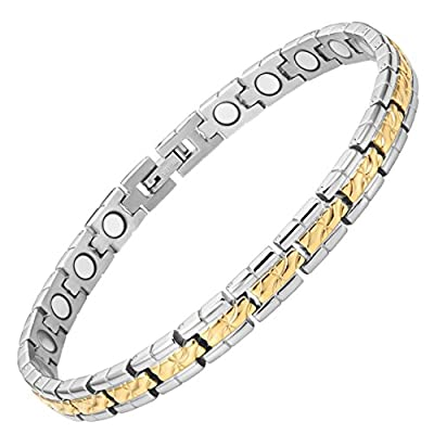 Womens Titanium Magnetic Therapy Bracelet for Arthritis Pain Relief Review