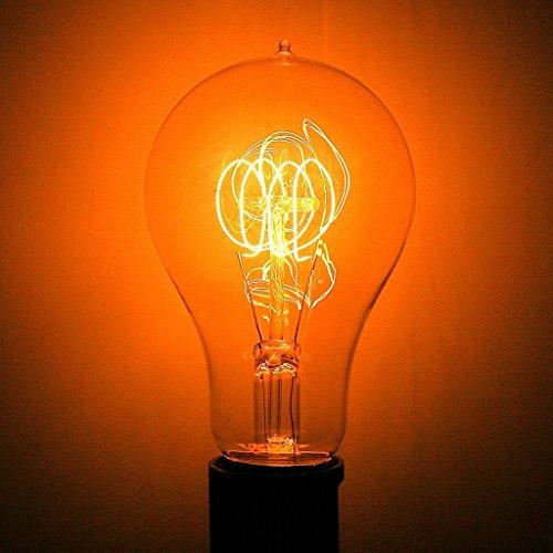 (Pack of 6) Halco A21ANT40 20002 40W A21 Antique Medium 120V Carbon Filament Light Bulb