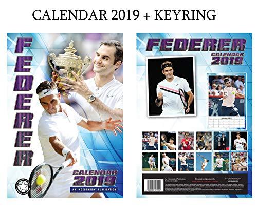 Amazon.com: Roger Federer Calendario 2019 + Llavero Roger ...