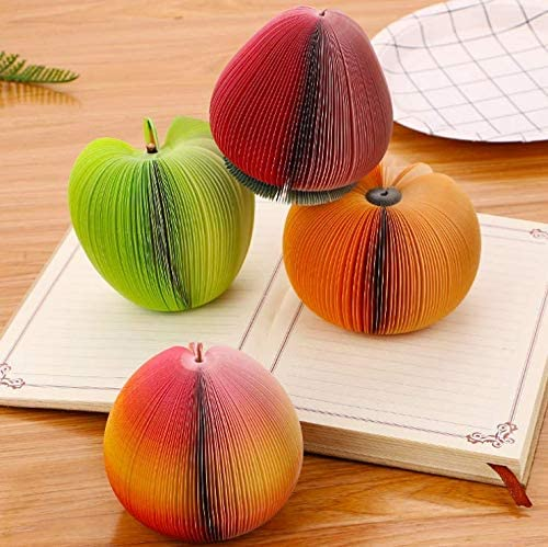 2 pieces Cute Fruit Memo Pads Portable Scratch Paper Notepads Creative DIY Post Sticky for Office Stationery Supplies And Home Decorations