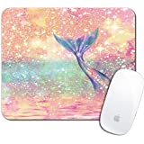 Royal Up Mermaid Tail Custom Mouse Pad Gaming Mat Keyboard Pad Waterproof Material Non-slip Personalized Rectangle Mouse pad (9.4x7.8x0.08Inch)