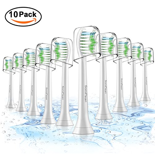 Toothbrush Heads,Sonicare Replacement Brush Heads For Philips Sonicare DiamondClean,FlexCare,HealthyWhite, EasyClean, Essence+ (10-pack)
