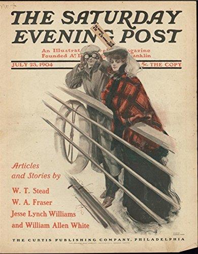Travelers Ocean Liner passengers Well Dressed 1904 antique historic color ()