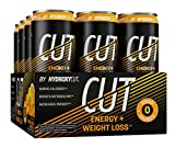 Energy Drink + Weight Loss | Hydroxycut Cut | Sparkling Energy Drinks + Weight Loss | Zero Sugar, Zero Calories | Burn Calories + Boost Metabolism | Orange Mango Pineapple, 12 fl oz Cans, 12-Pack