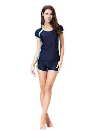 f11a964b71 CaptainSwim Women s Short Sleeve Shorts Muslim Islamic Burkini Modest  Swimwear Lady Swimsuit (Asia XS