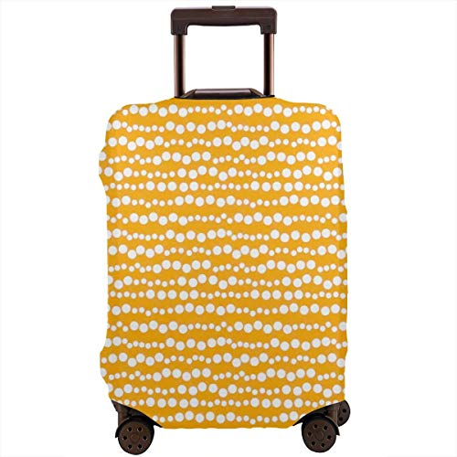 (Travel Luggage Cover Baggage Suitcase Protective Washable Baggage Covers Fit For 18-32 Inch Luggage Bubble Inspired Stripe Lined Circles Rounds)